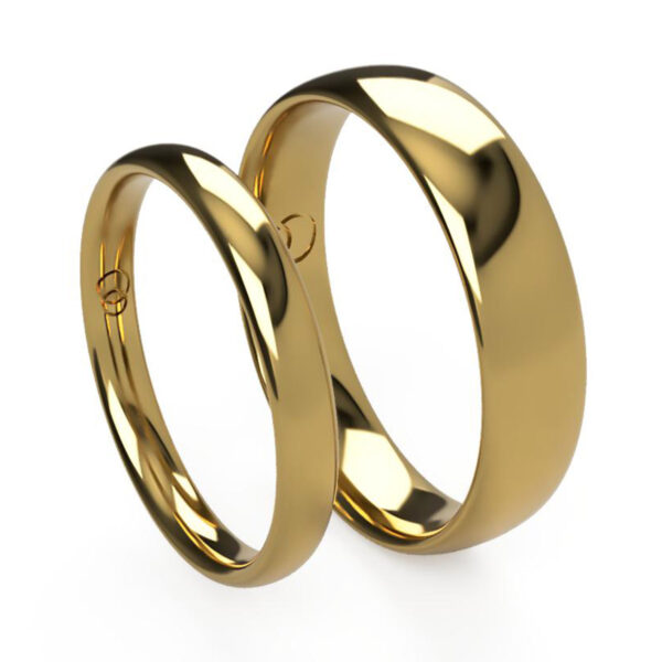 Uniti Court Yellow Gold Wedding Ring His and Hers