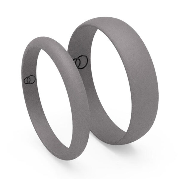 Uniti D-shaped Titanium Wedding Ring His and Hers