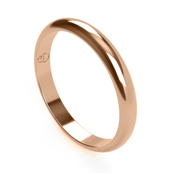 Uniti D-Shaped red gold Wedding Ring for her