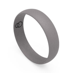 Uniti D-Shaped titanium Wedding Ring for him