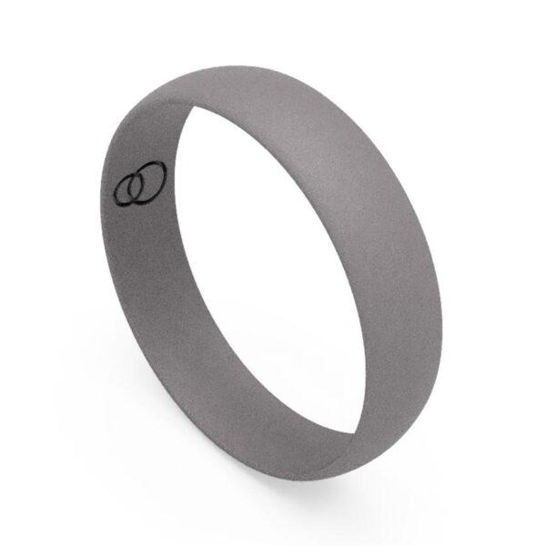 Uniti D-Shaped titanium Wedding Ring for him