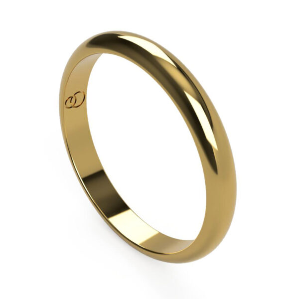 Uniti D-Shaped yellow gold Wedding Ring for her