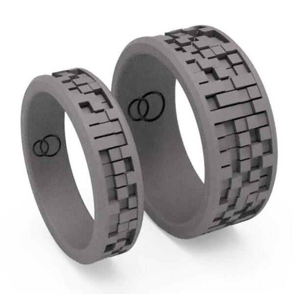 Uniti EqualiTitanium Wedding Ring His and Hers