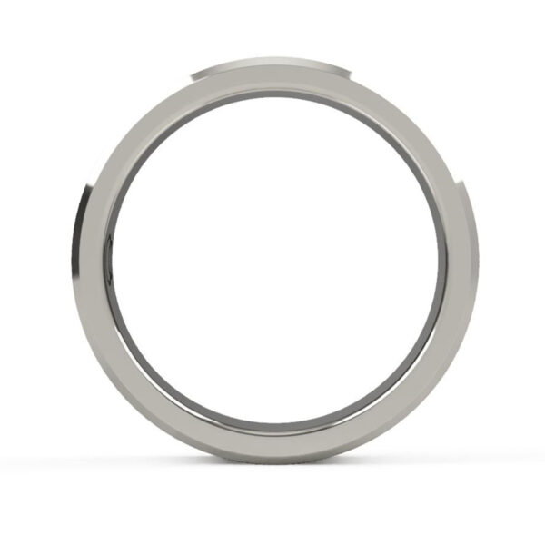 Uniti Equalizer Platinum white gold silver Wedding Ring for her