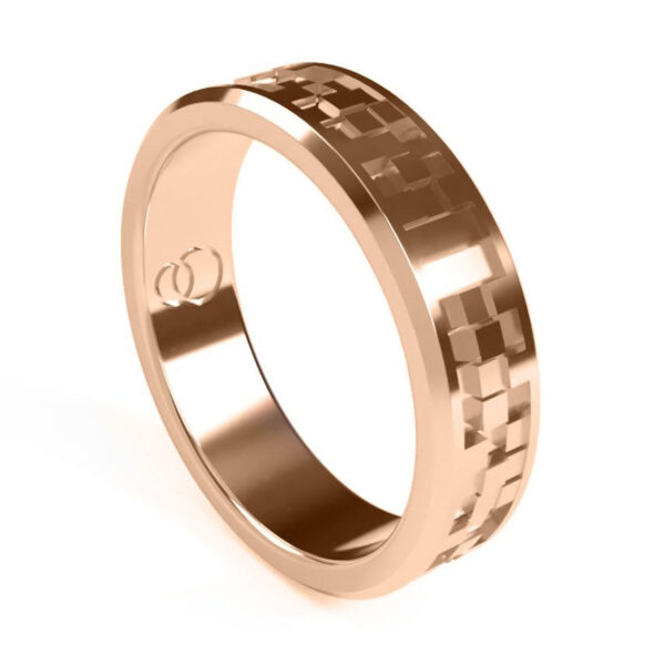 Uniti Equalizer Red Gold Wedding Ring for her
