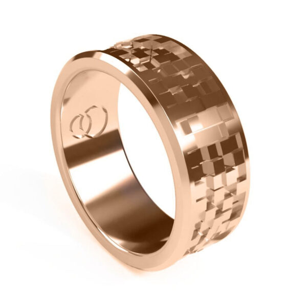 Uniti Equalizer Red Gold Wedding Ring for him