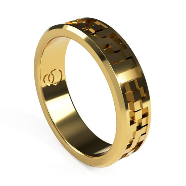 Uniti Equalizer Yellow Gold Wedding Ring for her