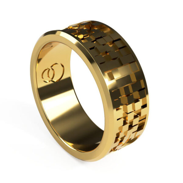 Uniti Equalizer Yellow Gold Wedding Ring for him
