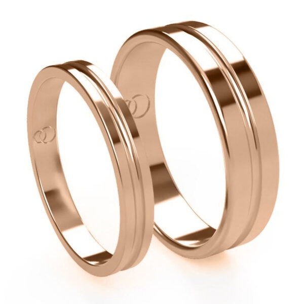 Uniti Eterniti Red Gold Wedding Ring His and Hers