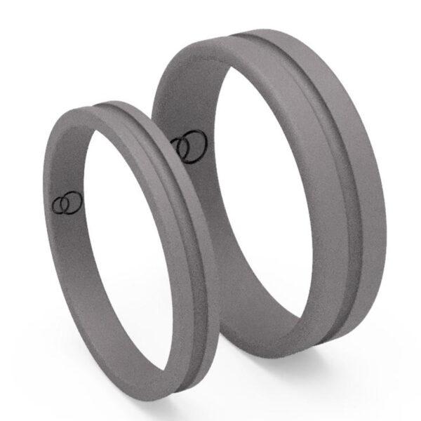 Uniti Eterniti Titanium Wedding Ring His and Hers