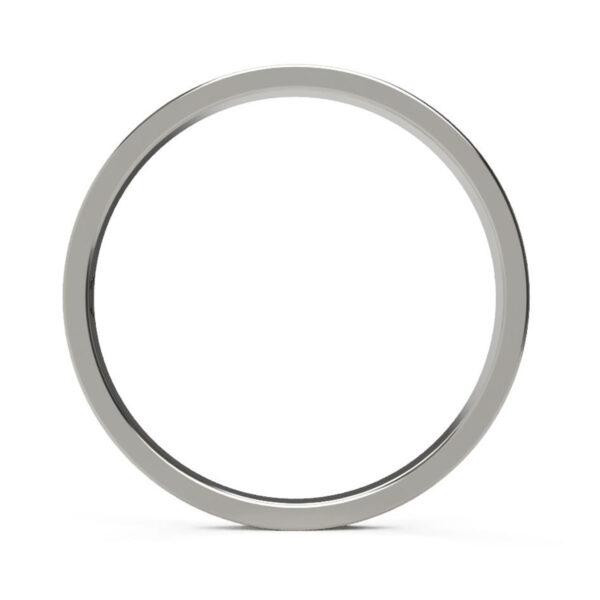 Uniti Eterniti Platinum white gold silver Wedding Ring for her
