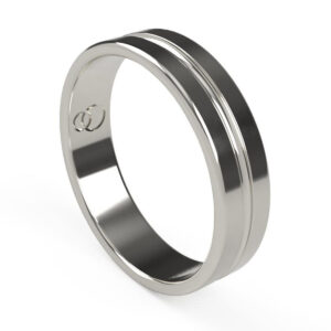Uniti Eterniti Platinum white gold silver Wedding Ring for him