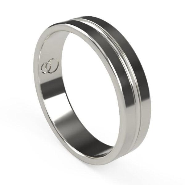 Uniti Eterniti Platinum white gold silver Wedding Ring for him
