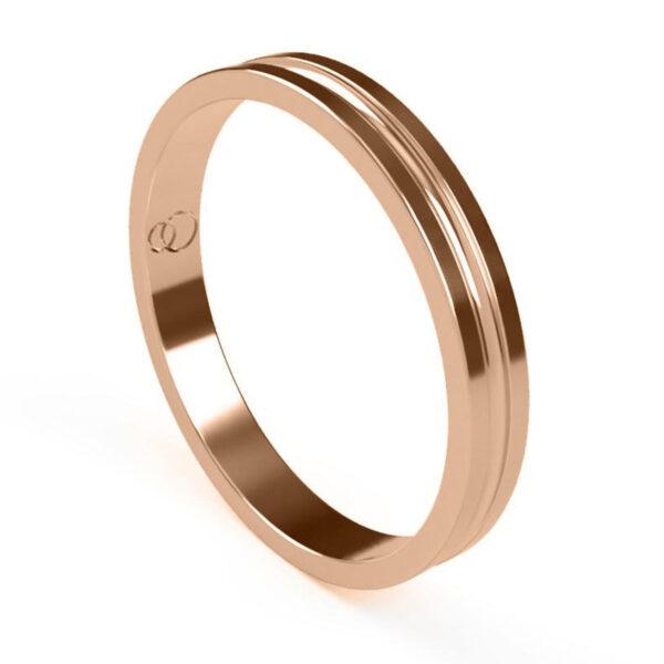 Uniti Eterniti Red Gold Wedding Ring for her