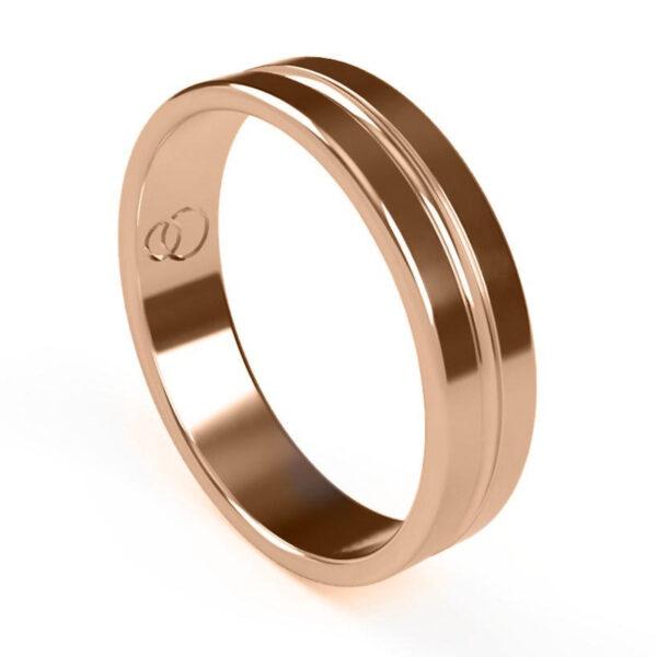 Uniti Eterniti Red Gold Wedding Ring for him