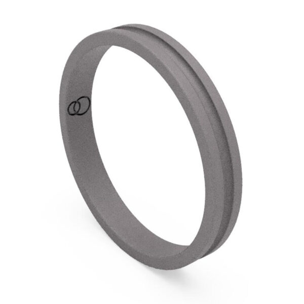 Uniti Eterniti Titanium Wedding Ring for her