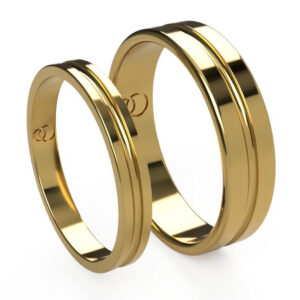 Uniti Eterniti Yellow Gold Wedding Ring His and Hers