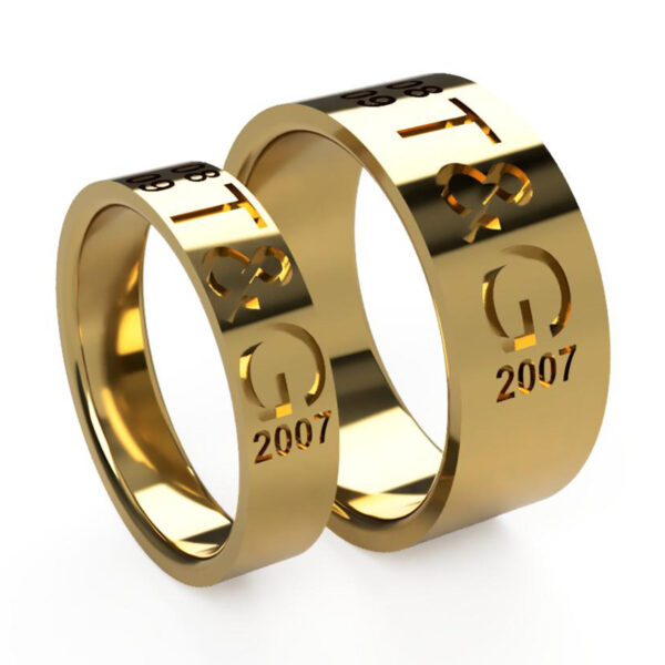 Uniti Everlasting Yellow Gold Wedding Ring His and Hers