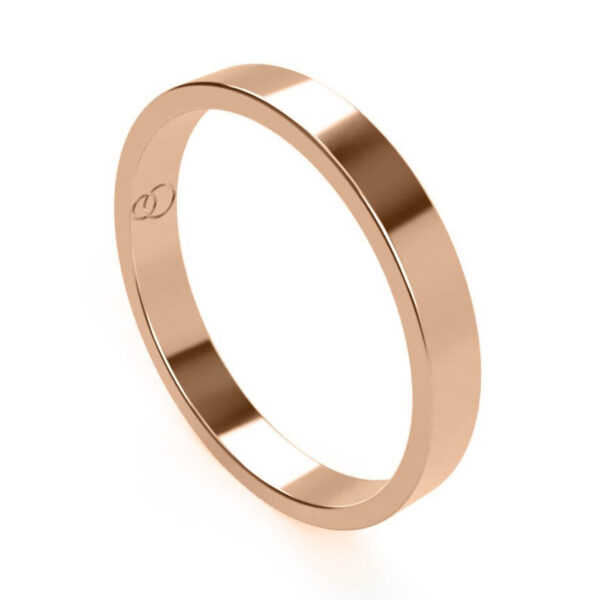 Uniti Flat red gold Wedding Ring for her