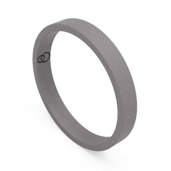 Uniti Flat titanium Wedding Ring for her