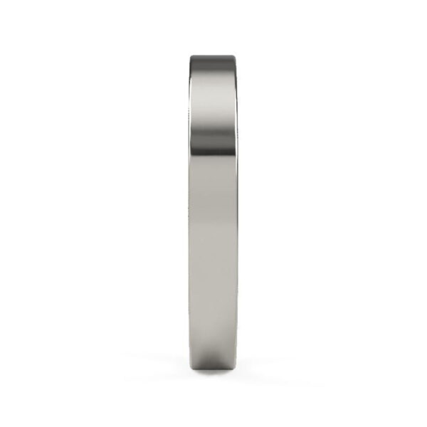 Uniti Flat Platinum white gold silver Wedding Ring for her