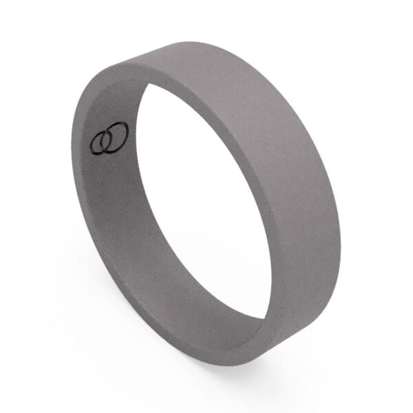 Uniti Flat titanium Wedding Ring for him