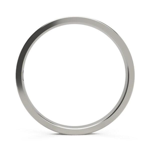 Uniti Rivulet Platinum white gold silver Wedding Ring for her