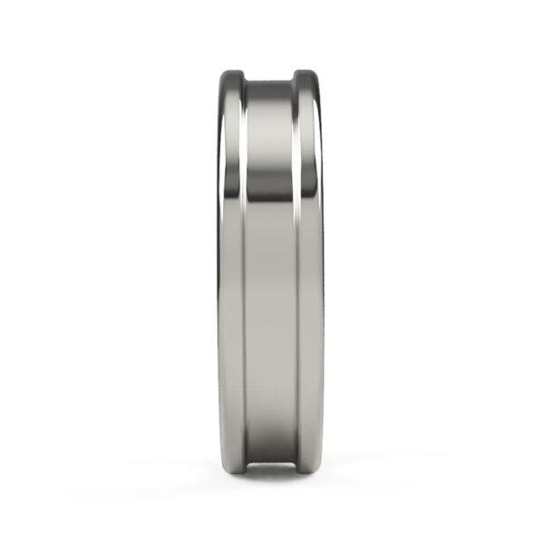 Uniti Rivulet Platinum white gold silver Wedding Ring for him