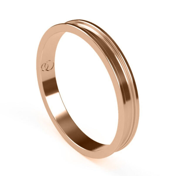 Uniti Rivulet Red Gold Wedding Ring for her