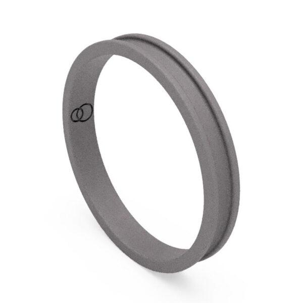 Uniti Rivulet Titanium Wedding Ring for her