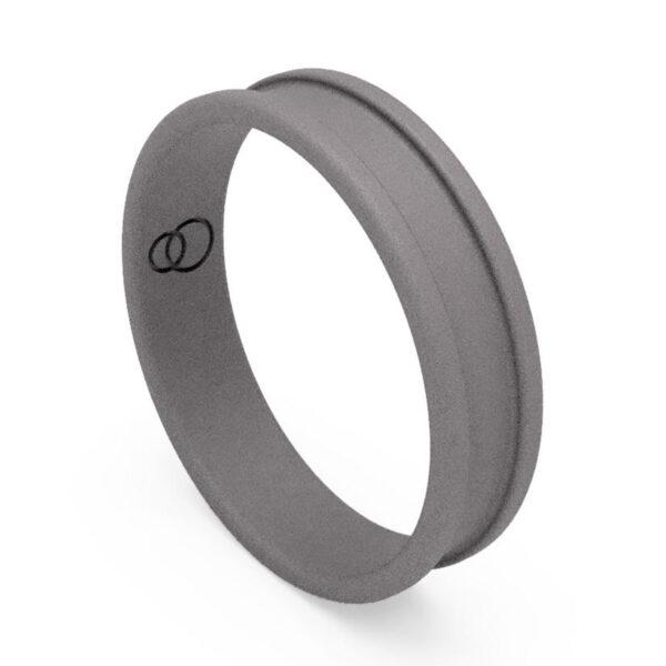 Uniti Rivulet Titanium Wedding Ring for him