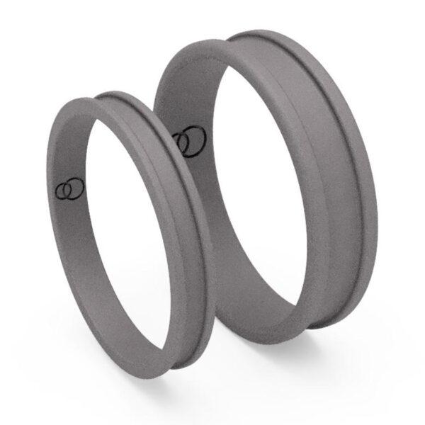 Uniti Rivulet Titanium Wedding Ring His and Hers