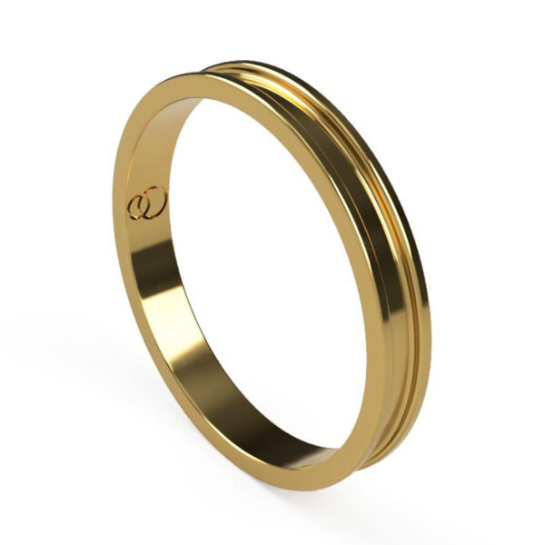 Uniti Rivulet Yellow Gold Wedding Ring for her