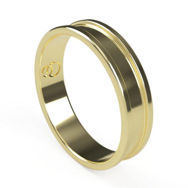 Uniti Rivulet Yellow Gold Wedding Ring for him