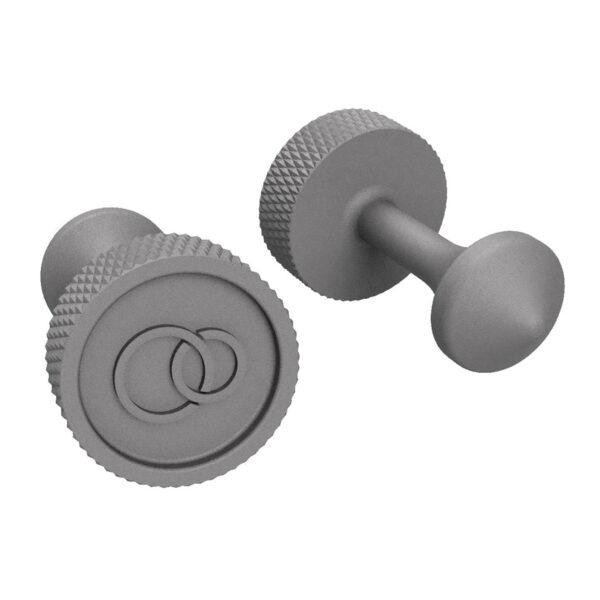 Uniti Knurl Titanium Cufflinks