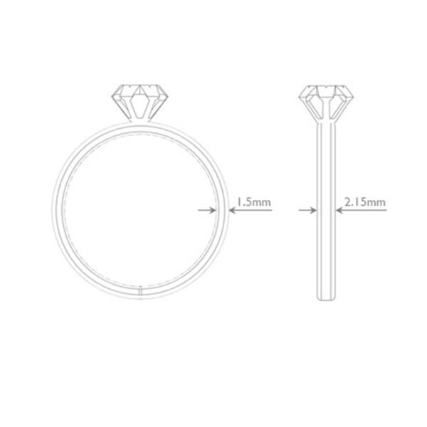 Solitaire Ring Dimensions