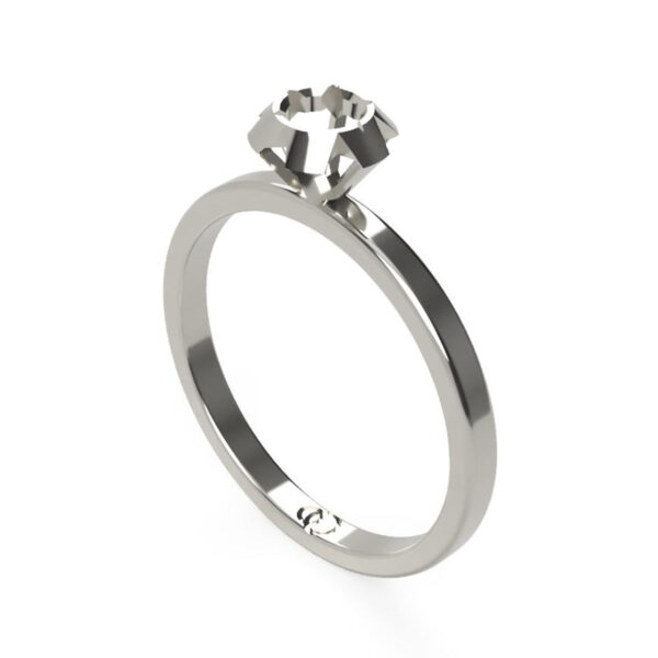 Uniti Solitaire Platinum white gold silver Ring
