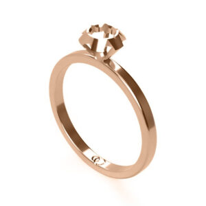 Uniti Solitaire Red gold Ring