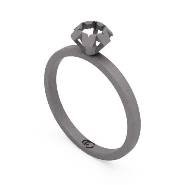 Uniti Solitaire Titanium Ring