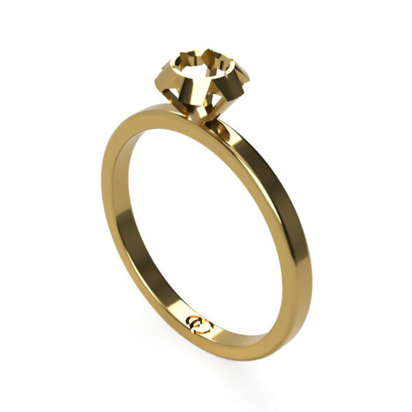 Uniti Solitaire Yellow gold Ring